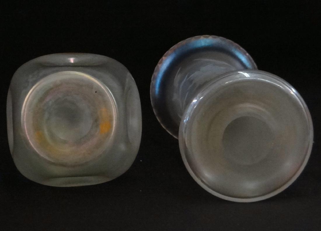 2 VERRE DE SOIREE STEUBEN ART GLASS VASES - 4