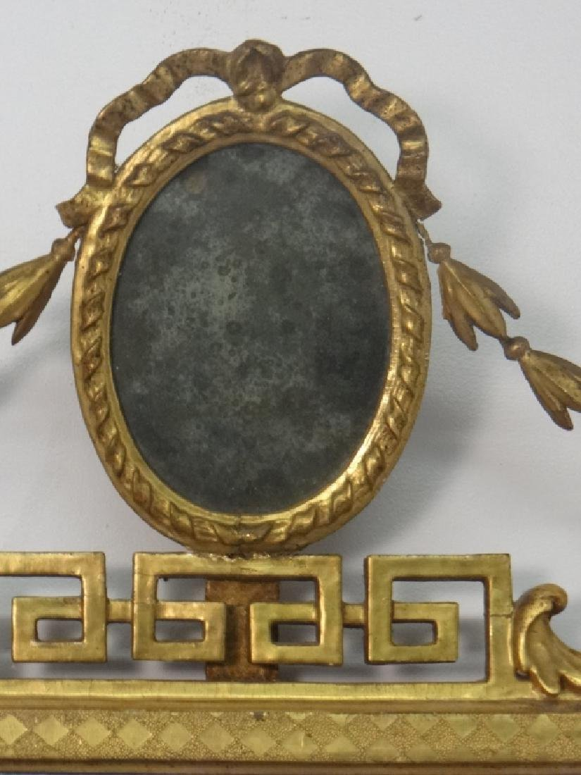 EARLY 19THC. CLASSICAL MIRROR IN ORIG. GILDING AND - 2