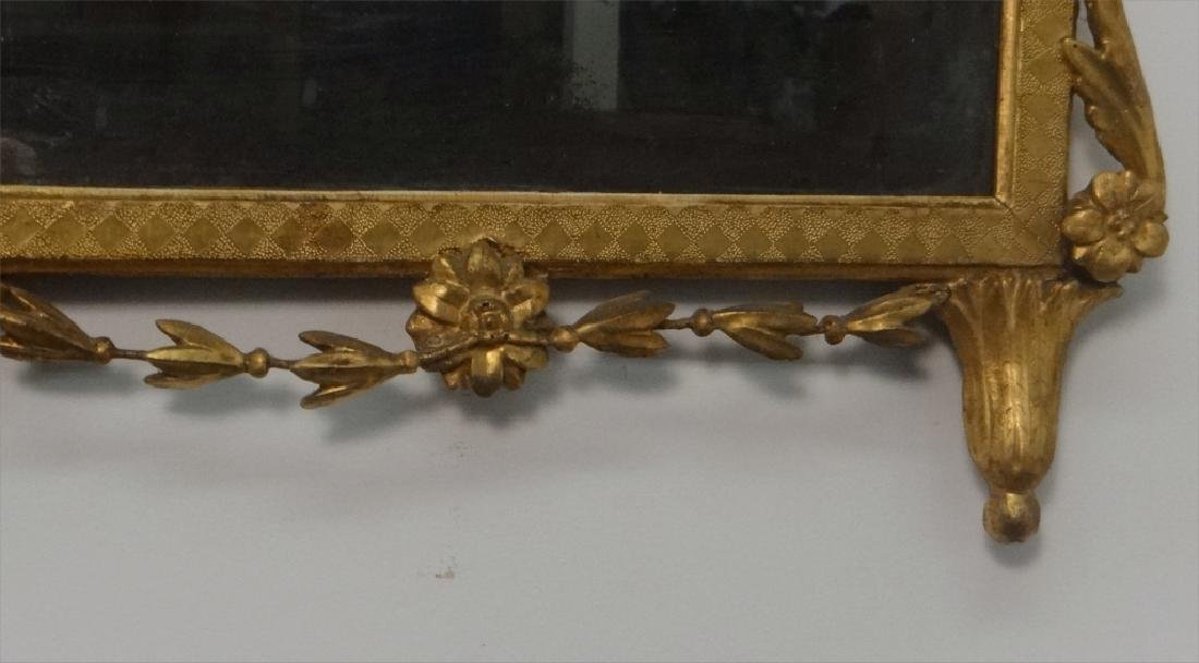 EARLY 19THC. CLASSICAL MIRROR IN ORIG. GILDING AND - 4