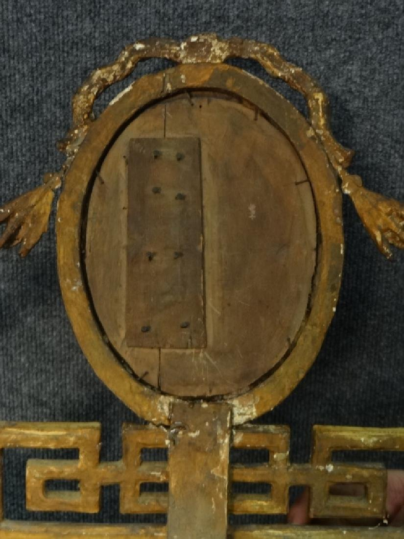EARLY 19THC. CLASSICAL MIRROR IN ORIG. GILDING AND - 6