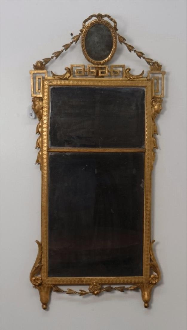 EARLY 19THC. CLASSICAL MIRROR IN ORIG. GILDING AND - 7