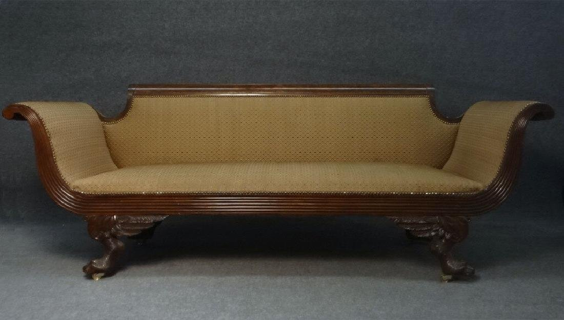 CLASSICALLY CARVED NEW YORK CITY SOFA IN