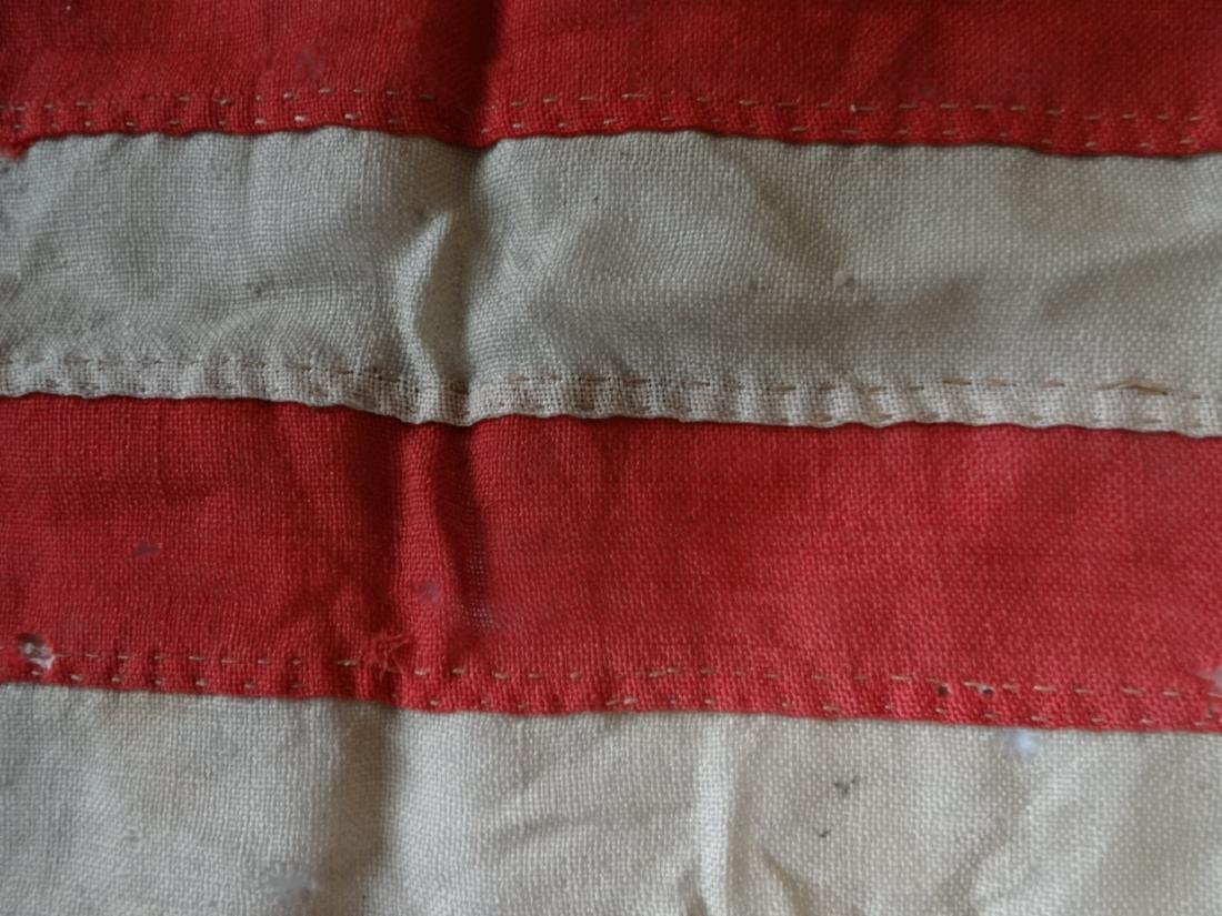 EARLY HAND STITCHED LINDSEY WOOLSEY 13 STAR  FLAG - 5