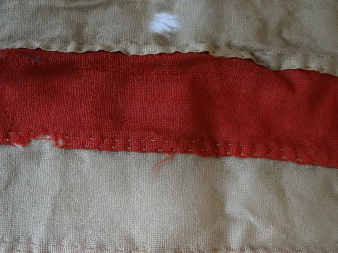 EARLY HAND STITCHED LINDSEY WOOLSEY 13 STAR  FLAG - 7