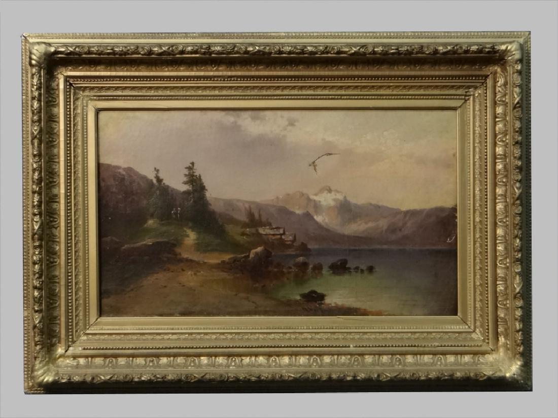 O/C ALPINE LANDSCAPE C. 1824 SGND H. VEIT