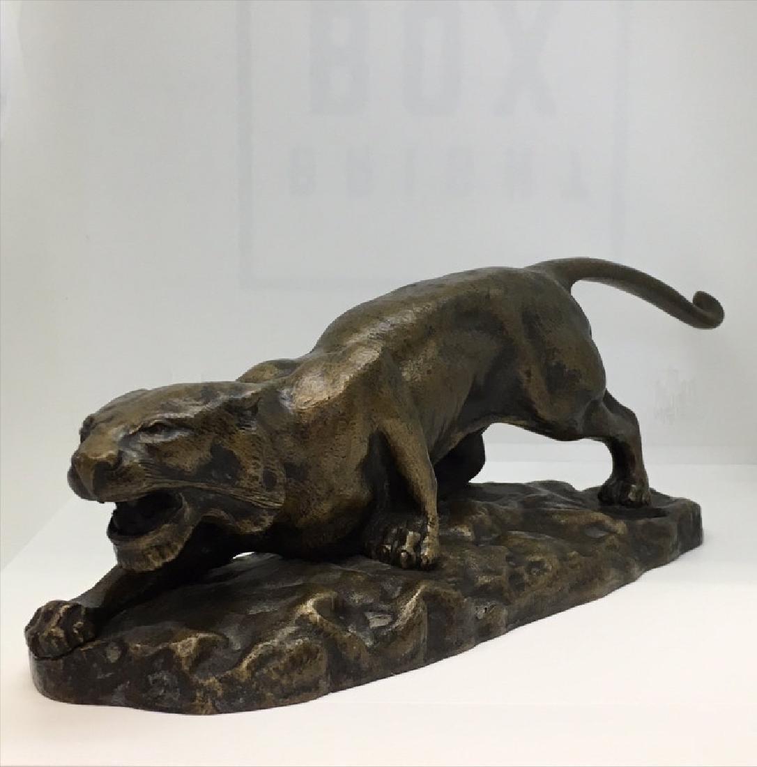 "BRONZE TIGER CAT SGND BARRY 10"" X 3"" X 3"""