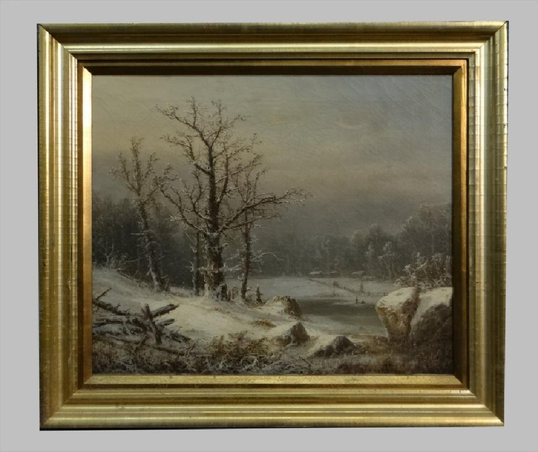 "O/C ""WINTER SNOW"" SGND H. GEYER 18"" X 22"""