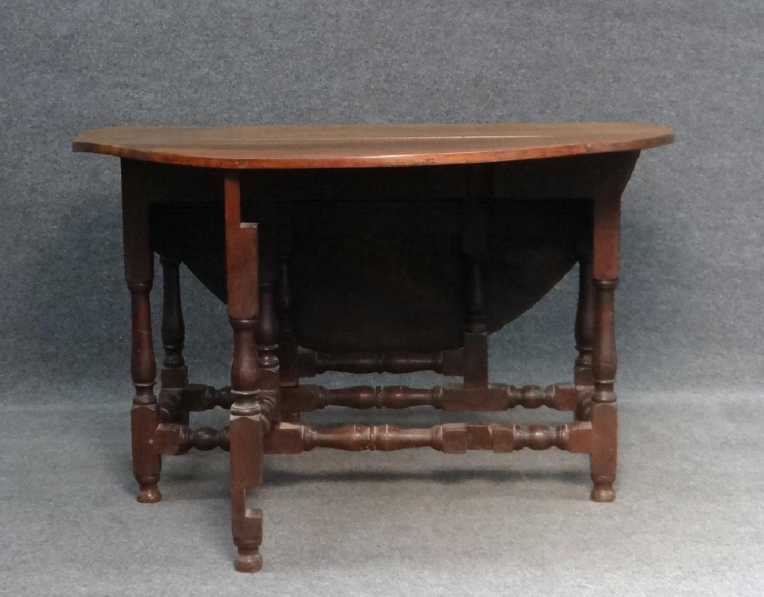 WALNUT GATELEG TABLE , EARLY 19THC. / LATE 18THC - 2