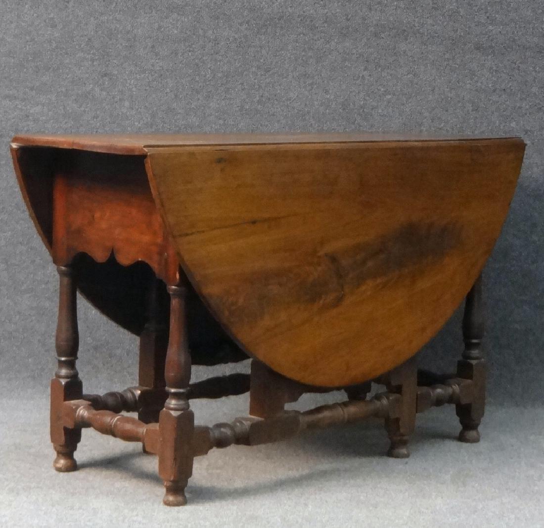 WALNUT GATELEG TABLE , EARLY 19THC. / LATE 18THC - 5