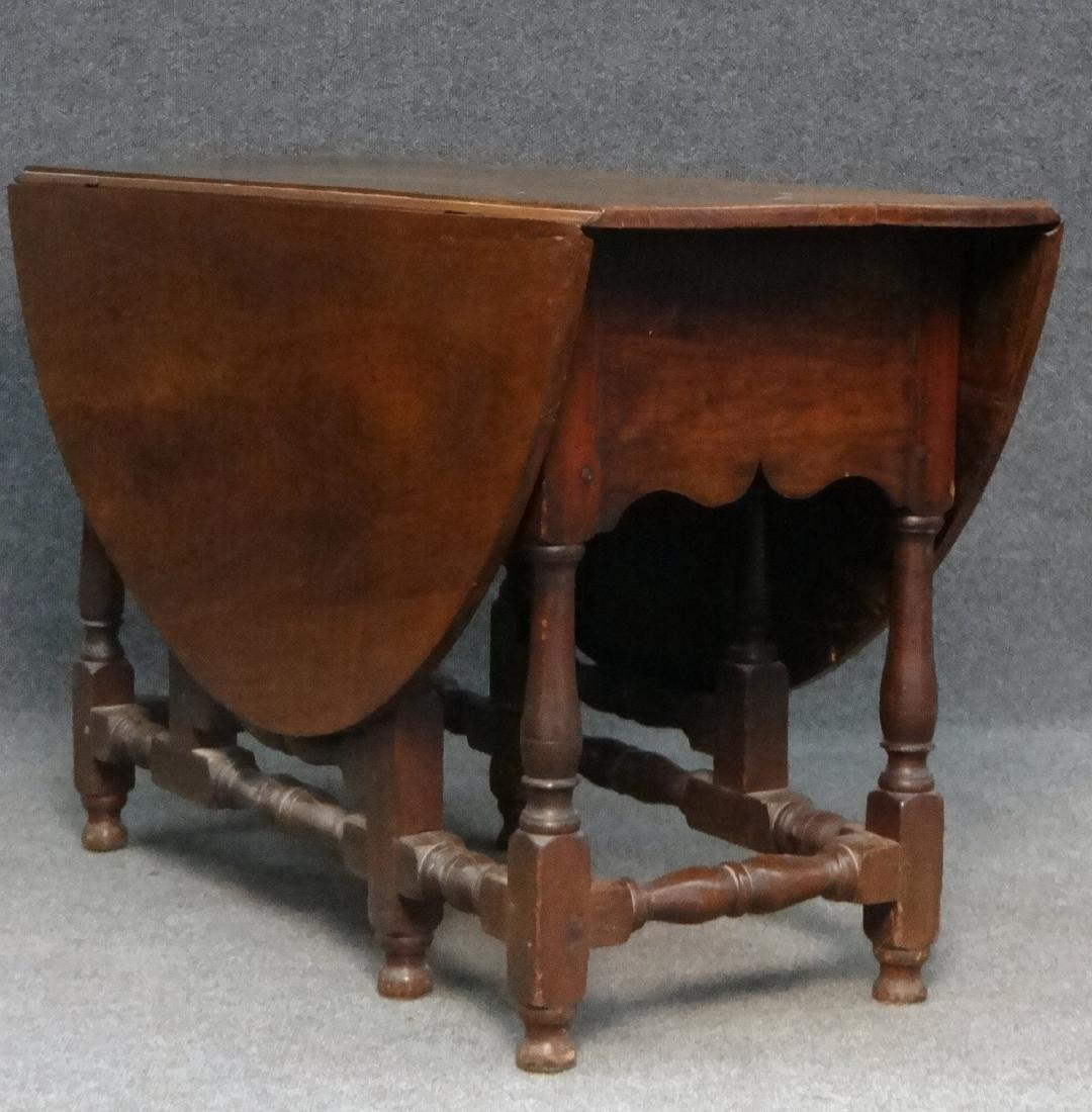 WALNUT GATELEG TABLE , EARLY 19THC. / LATE 18THC - 6