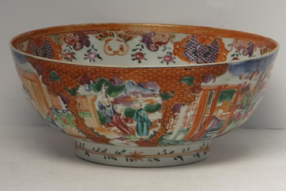18THC. CHINA TRADE PUNCH BOWL DECORATED IN A - 2