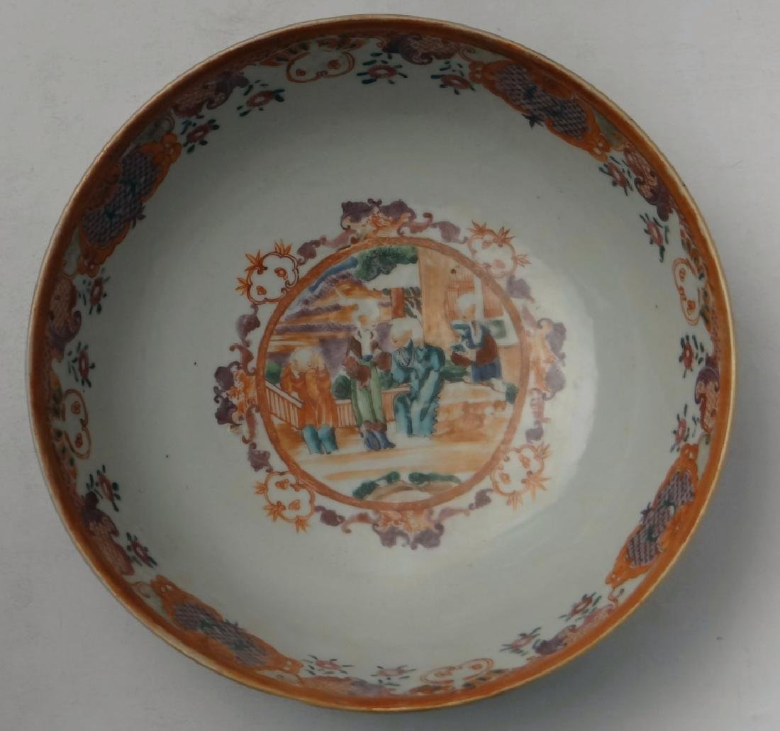 18THC. CHINA TRADE PUNCH BOWL DECORATED IN A - 3