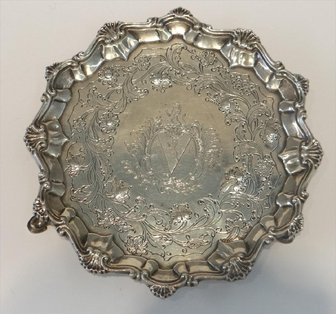 "2- 18THC. STERLING SILVER 7"" SALVERS - 2"