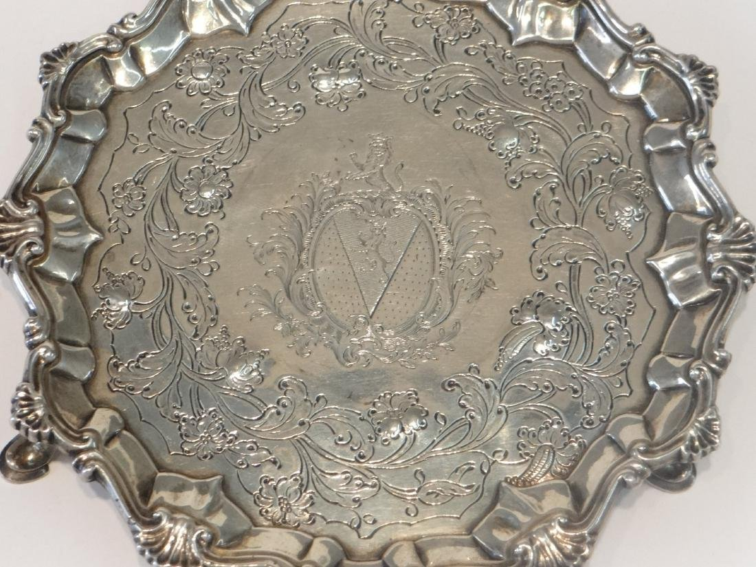 "2- 18THC. STERLING SILVER 7"" SALVERS - 3"