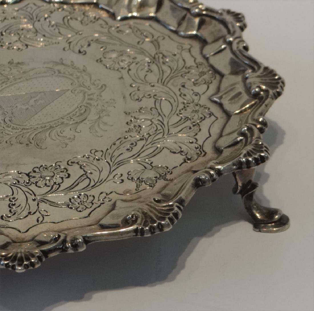 "2- 18THC. STERLING SILVER 7"" SALVERS - 7"