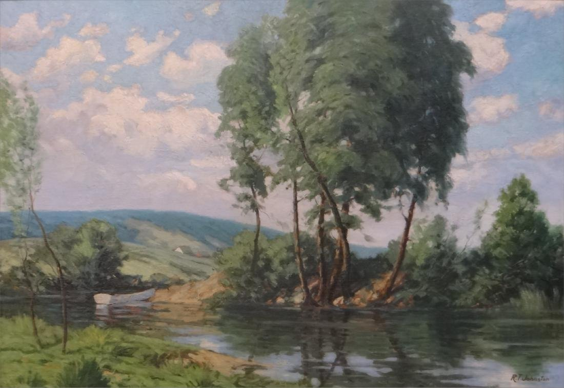 O/BD NEW ENGLAND LANDSCAPE, R.T. JOHNSTON - 2