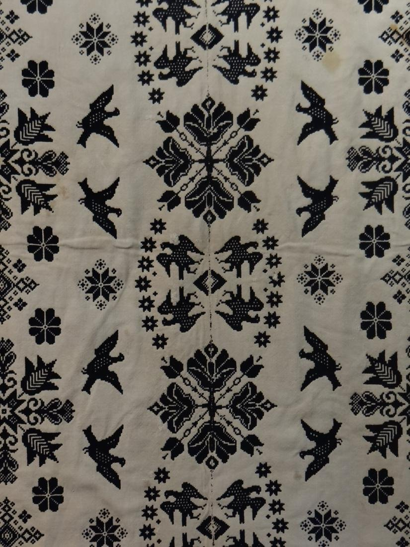 BLUE & WHITE WINTER SUMMER COVERLET BY I. CHRISTIE - 3