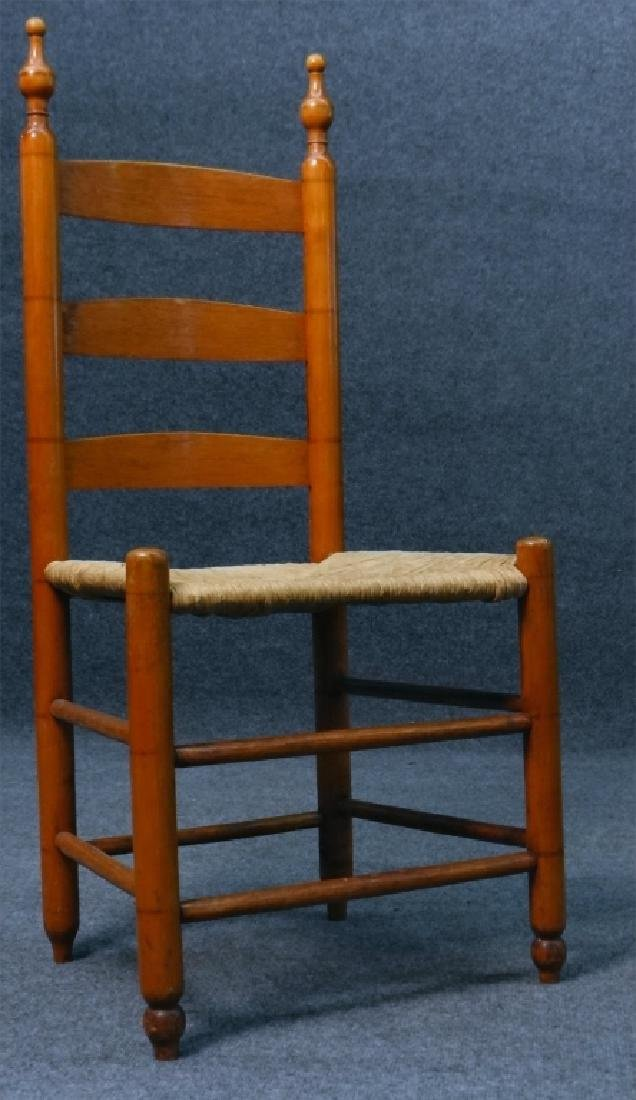 ASSEMBLED SET  6 BERGEN COUNTY LADDER BACK CHAIRS - 3