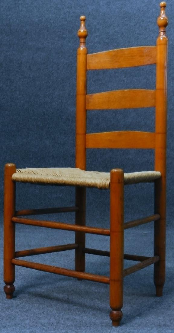 ASSEMBLED SET  6 BERGEN COUNTY LADDER BACK CHAIRS - 4