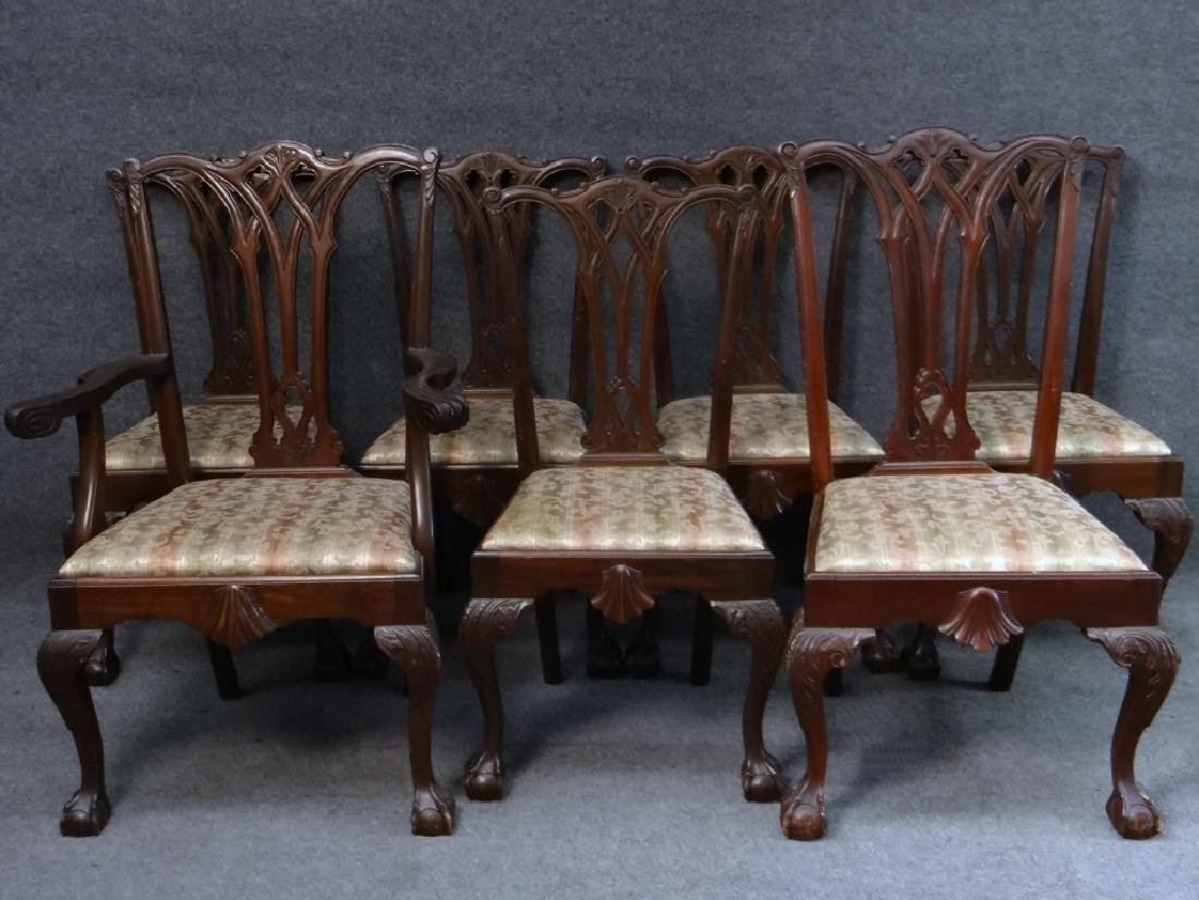SET OF 7 CENTENNIAL CHIPPENDALE STYLE CHAIRS