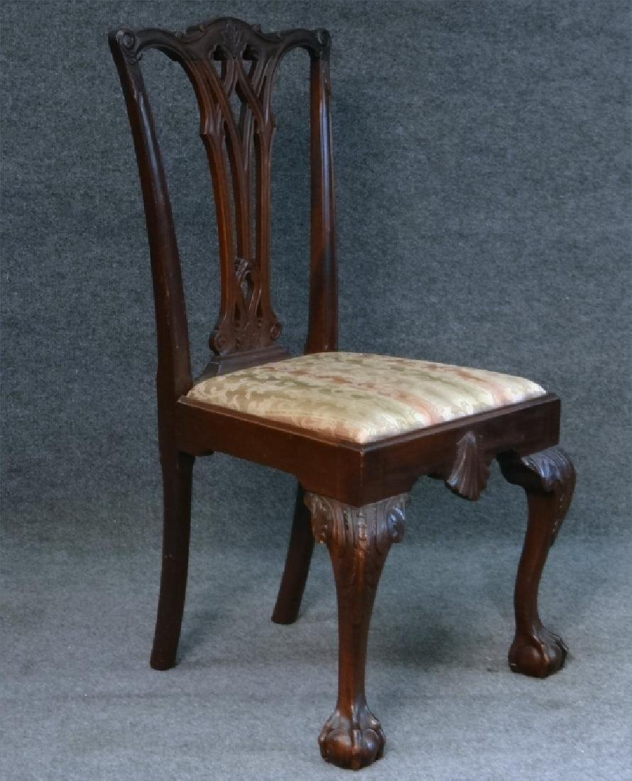 SET OF 7 CENTENNIAL CHIPPENDALE STYLE CHAIRS - 4
