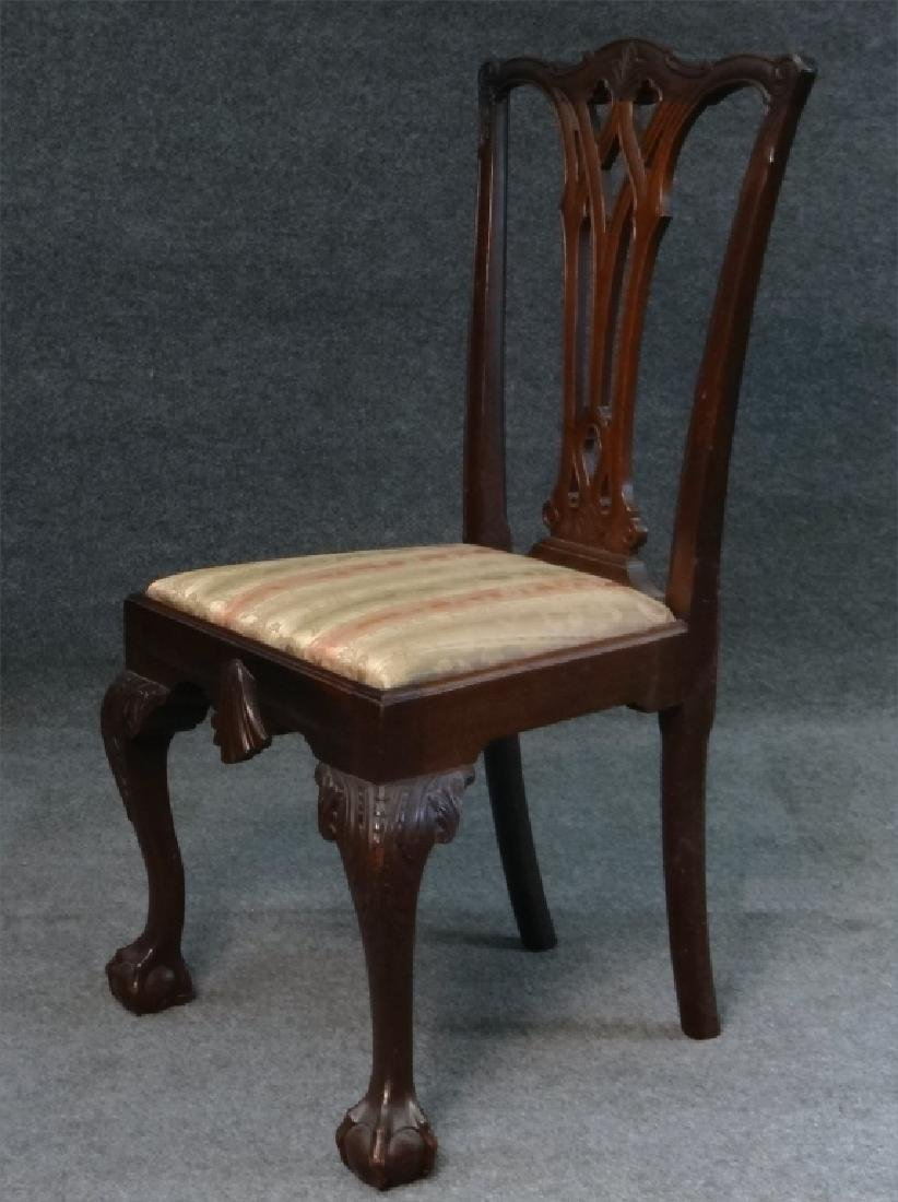 SET OF 7 CENTENNIAL CHIPPENDALE STYLE CHAIRS - 5