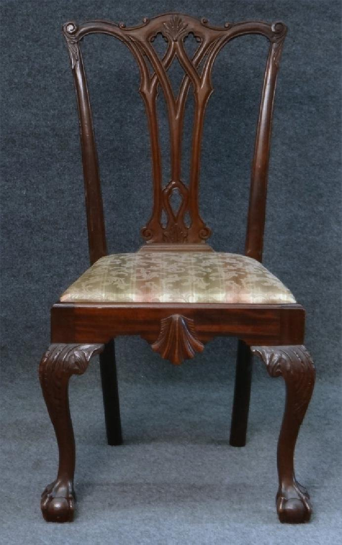 SET OF 7 CENTENNIAL CHIPPENDALE STYLE CHAIRS - 6