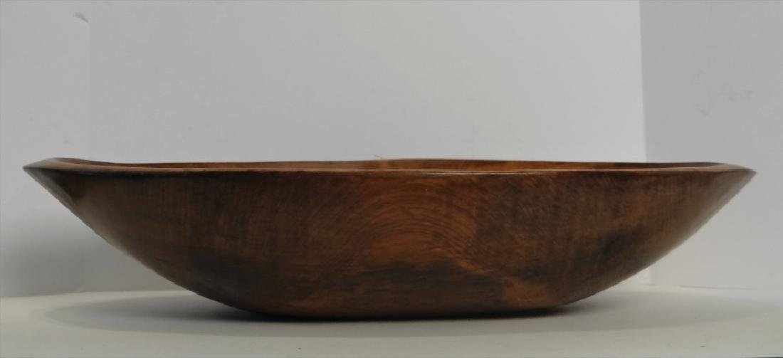 OVAL WOODEN BOWL W/ 5 BUTTER PRINTS - 5