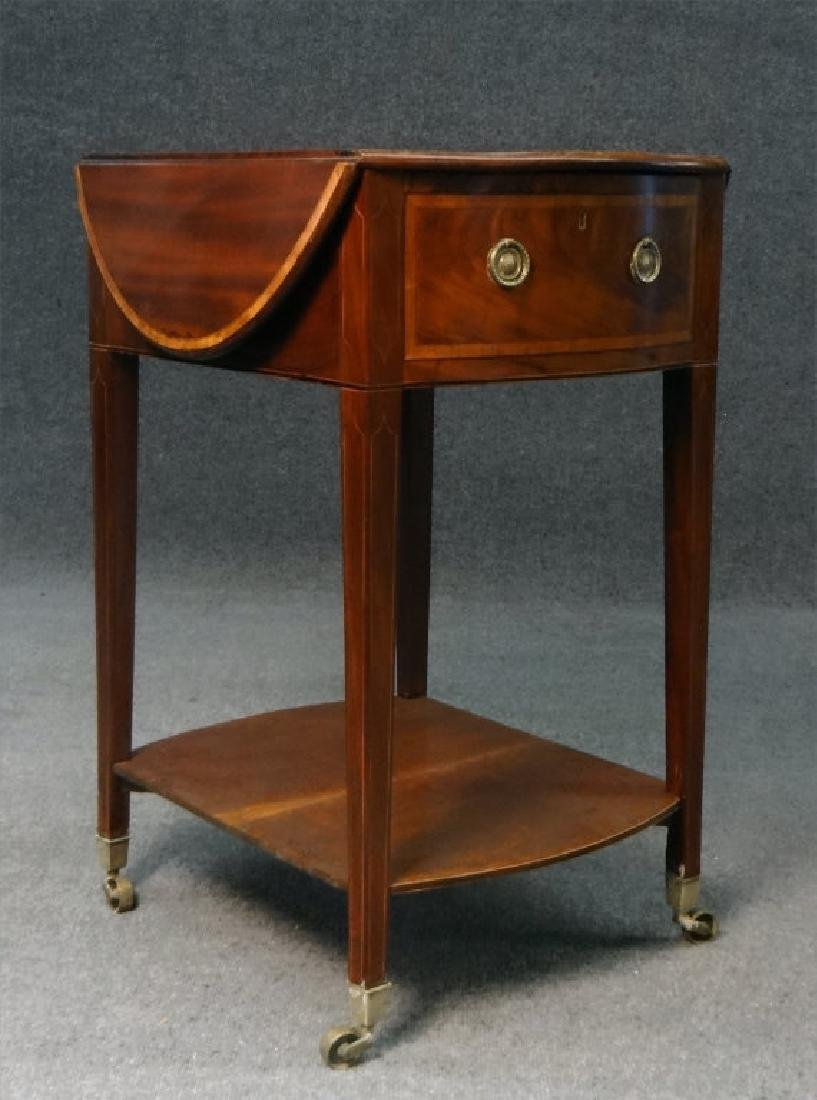 ENGLISH REGENCY INLAID DROPLEAF WORK TABLE