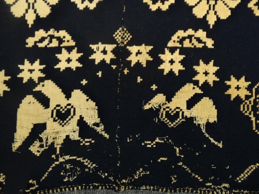 1835 BLUE & WHITE COVERLET BY AMANDA BLEAUVELT - 6