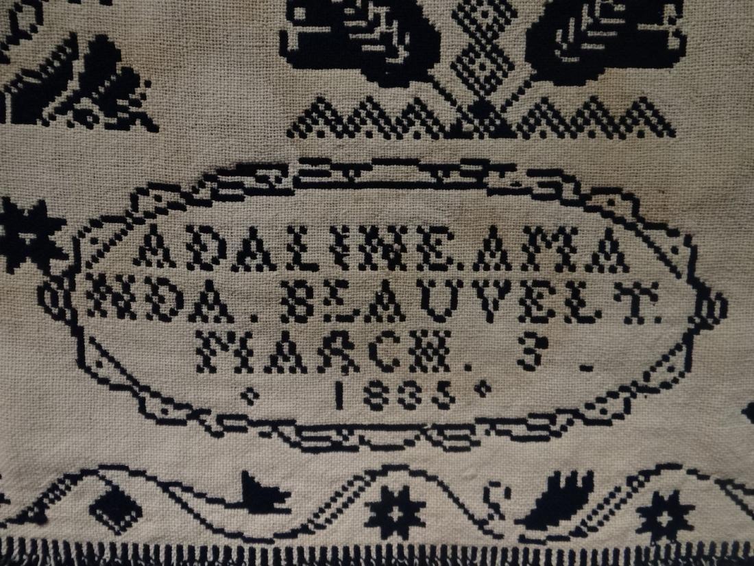 1835 BLUE & WHITE COVERLET BY AMANDA BLEAUVELT - 8