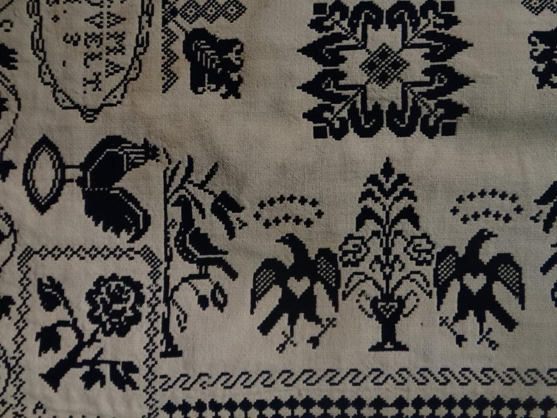 1835 BLUE & WHITE COVERLET BY AMANDA BLEAUVELT - 9