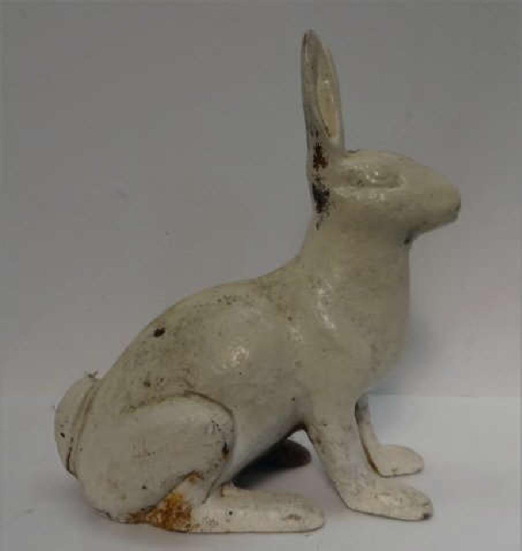 "CAST IRON GARDEN  RABBIT 11 1/2"" TALL"