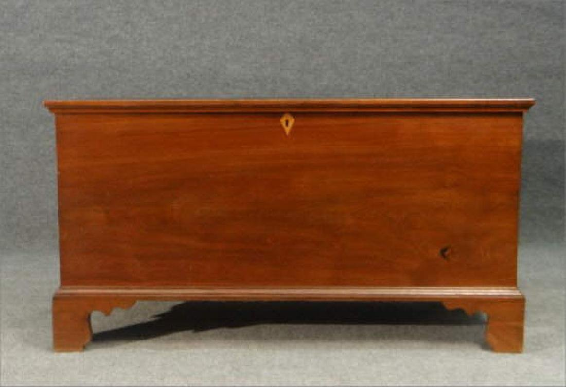 WALNUT BRACKET FOOTED BLIND DOVETAILED BLANKET BOX