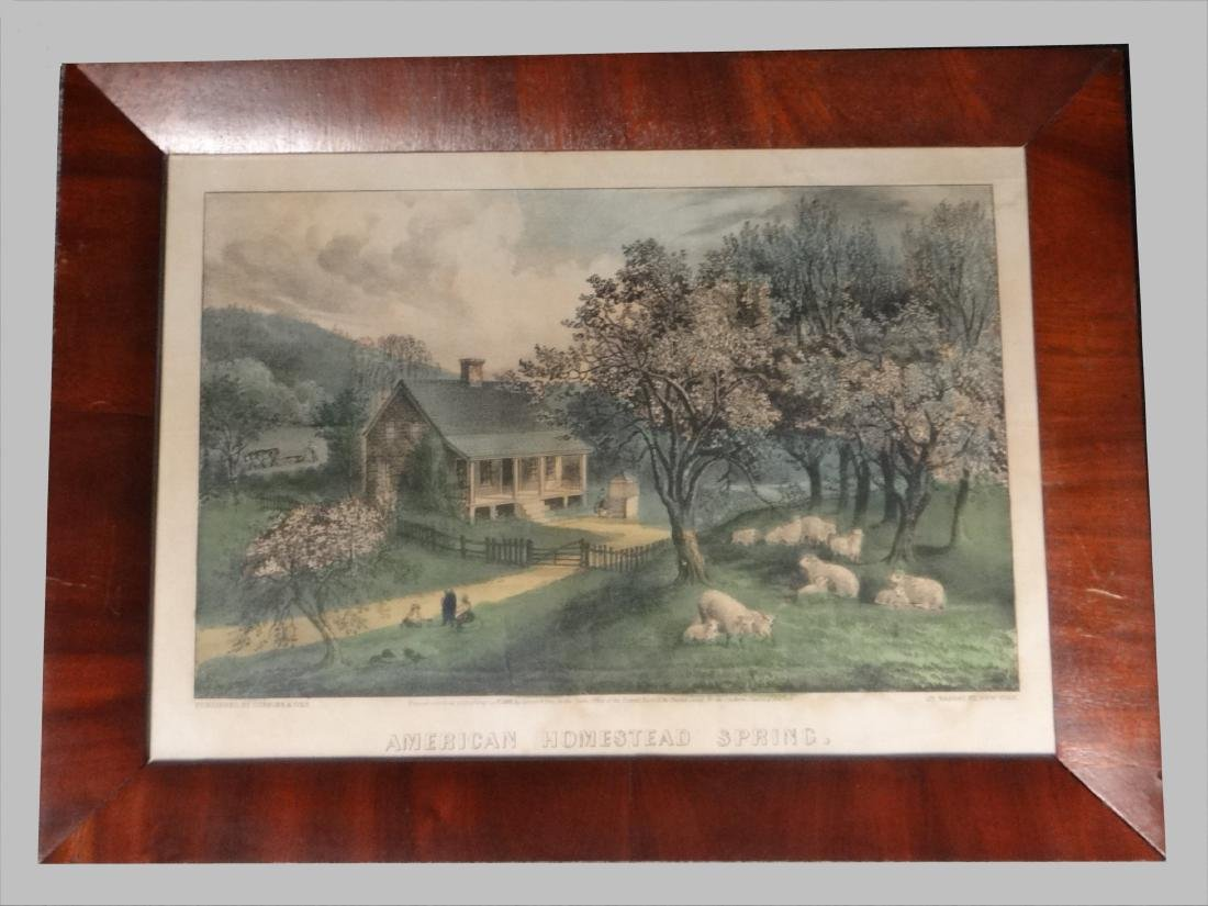 """4 SM FOLIO """"AMERICAN HOMESTEAD"""" CURRIER & IVES - 2"""