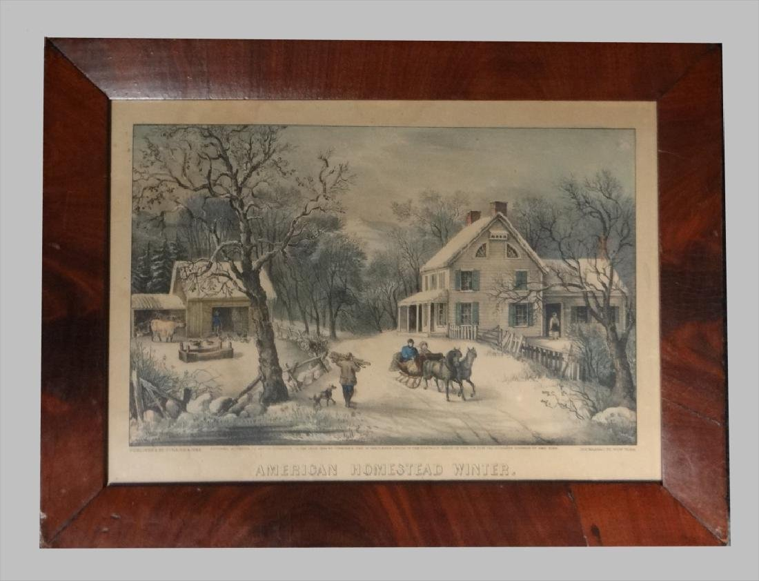 """4 SM FOLIO """"AMERICAN HOMESTEAD"""" CURRIER & IVES - 3"""