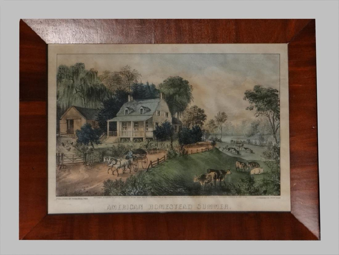 """4 SM FOLIO """"AMERICAN HOMESTEAD"""" CURRIER & IVES - 4"""