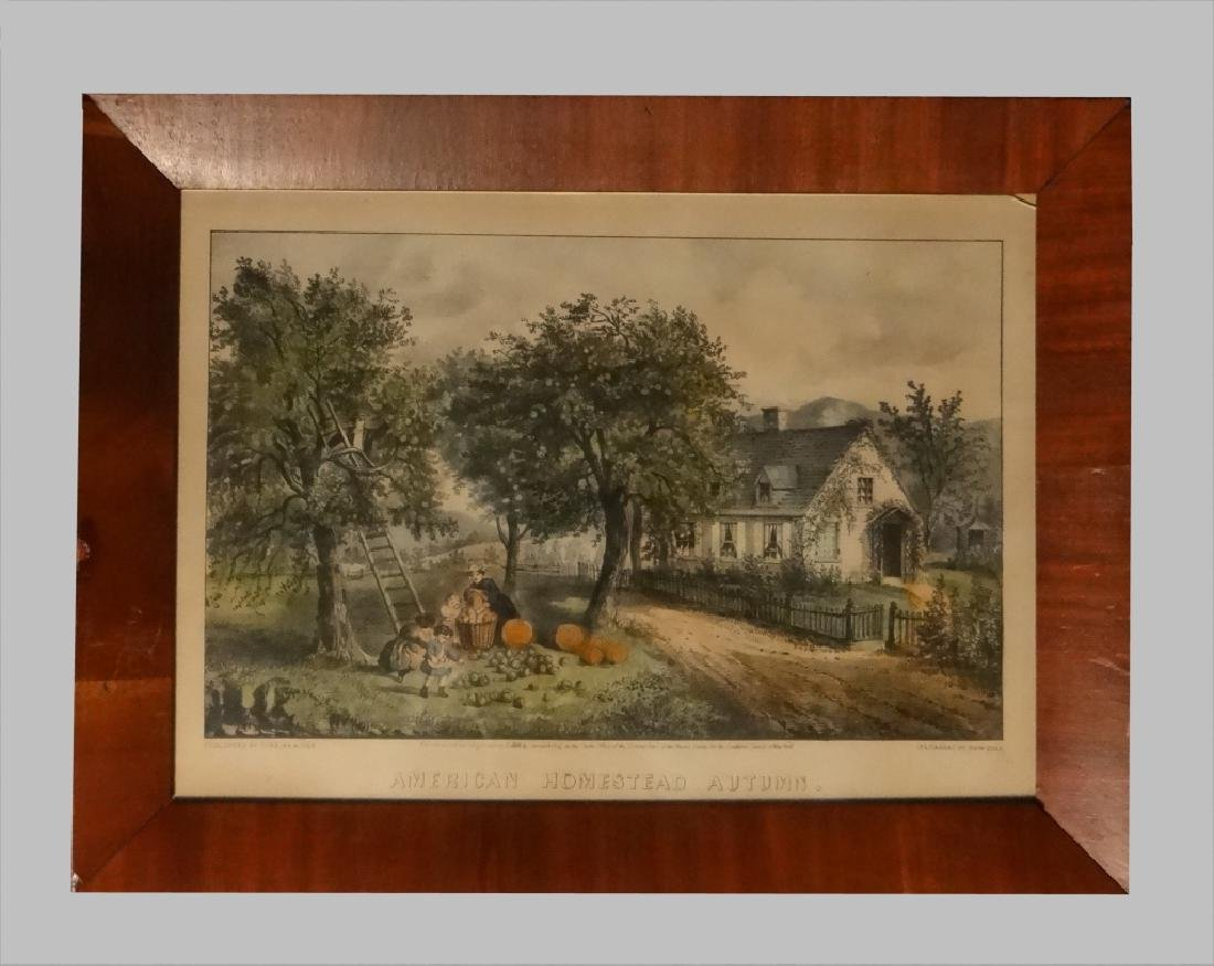 """4 SM FOLIO """"AMERICAN HOMESTEAD"""" CURRIER & IVES - 5"""