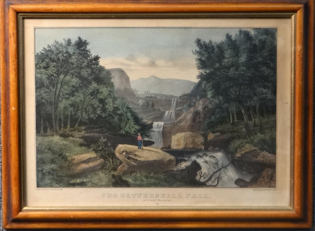 3 SMALL FOLIO CURRIER & IVES:THE CATTERSKILL FALLS - 2