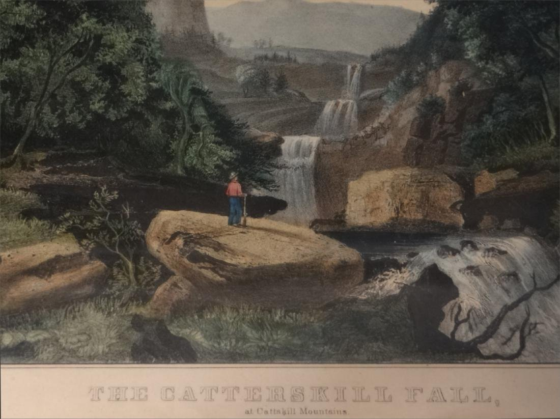3 SMALL FOLIO CURRIER & IVES:THE CATTERSKILL FALLS - 3