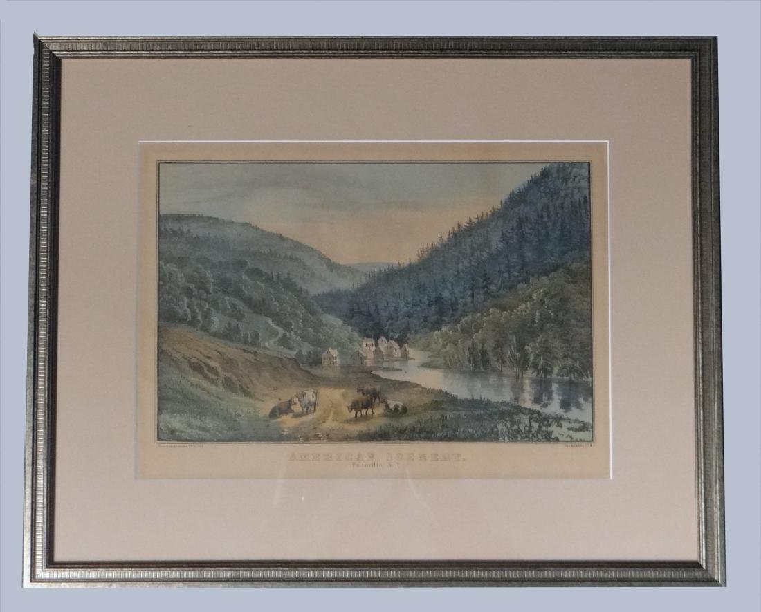 3 SMALL FOLIO CURRIER & IVES:THE CATTERSKILL FALLS - 4