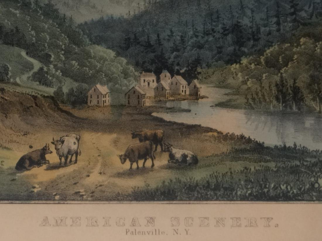 3 SMALL FOLIO CURRIER & IVES:THE CATTERSKILL FALLS - 5