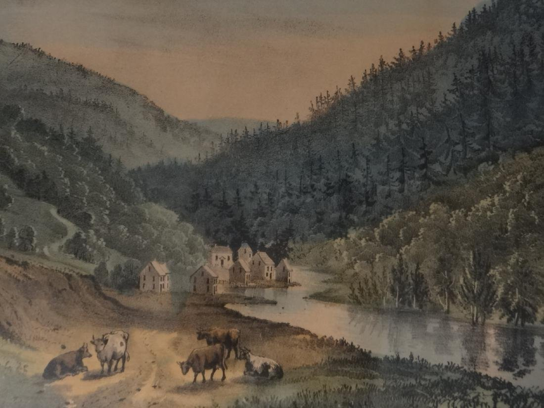 3 SMALL FOLIO CURRIER & IVES:THE CATTERSKILL FALLS - 6