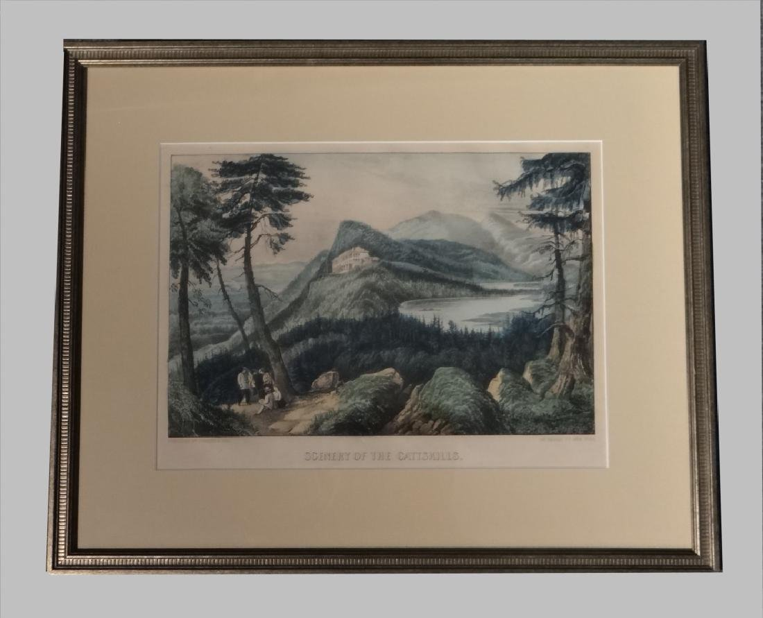 3 SMALL FOLIO CURRIER & IVES:THE CATTERSKILL FALLS - 7