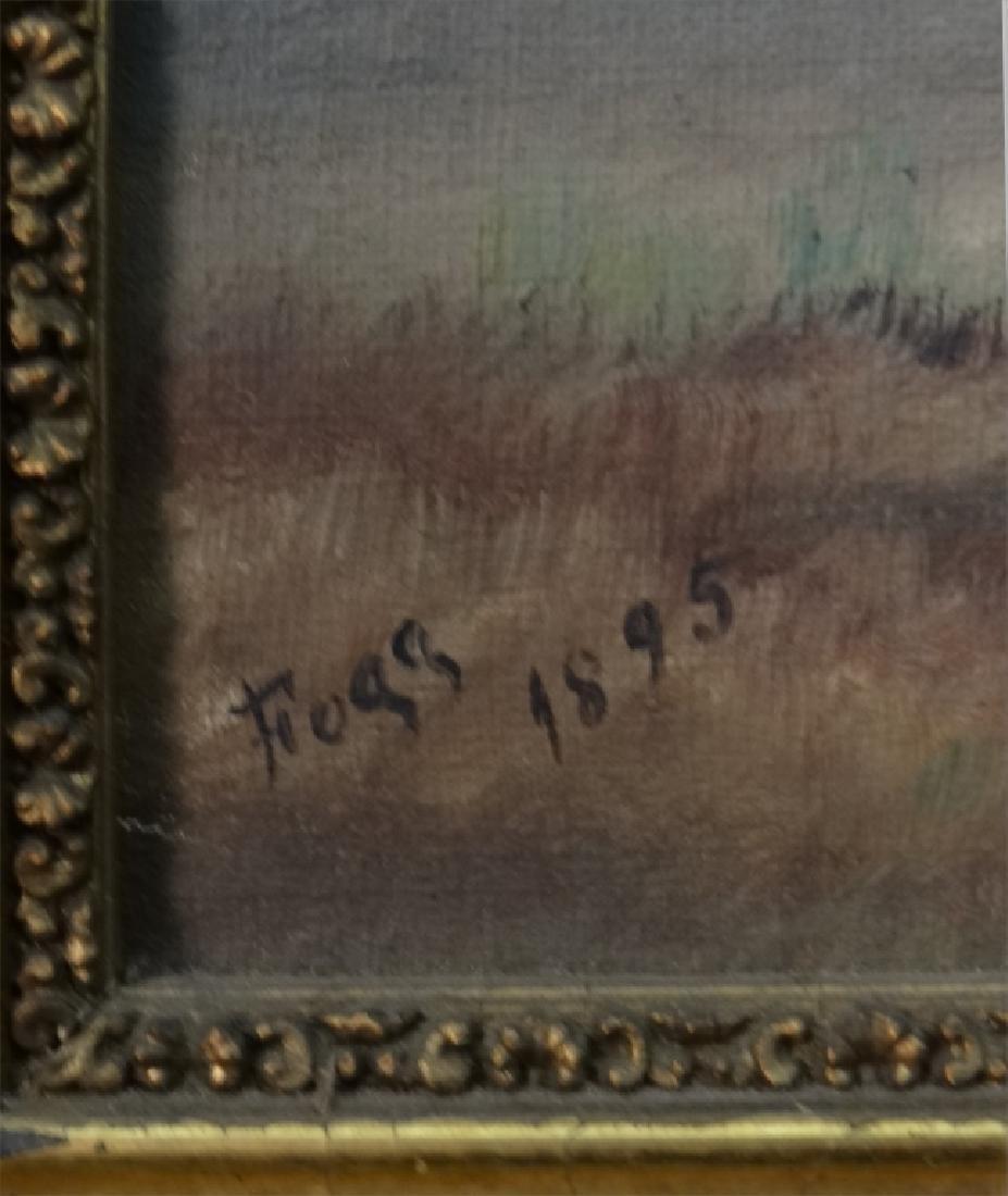"O/C ""HILLSIDE CAVE"" SGND FOGG, 1895 16"" X 12"" - 3"