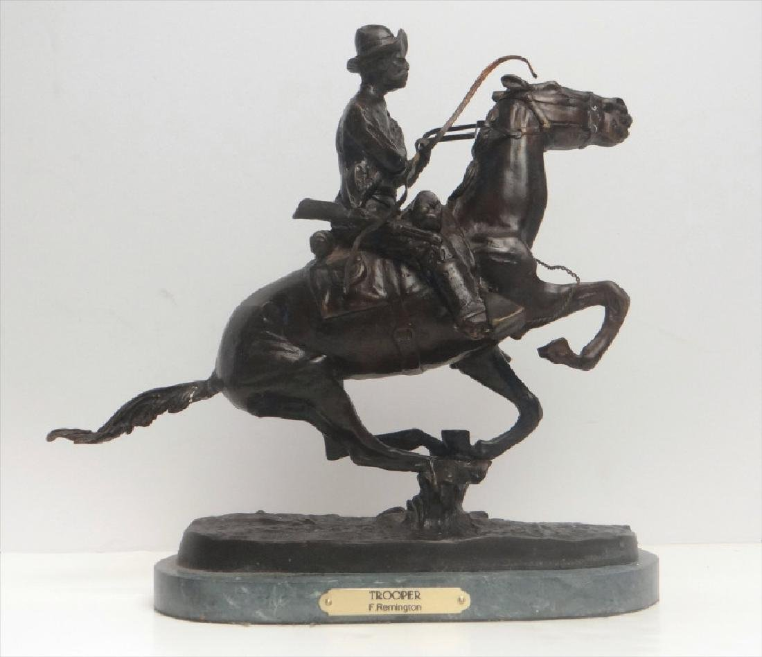 "BRONZE ""TROOPER"" SGND FREDERIC REMINGTON"