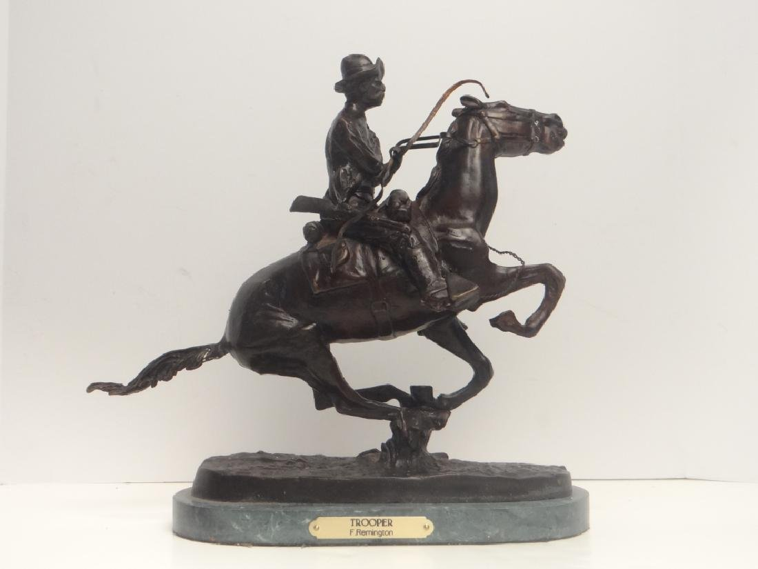 "BRONZE ""TROOPER"" SGND FREDERIC REMINGTON - 2"