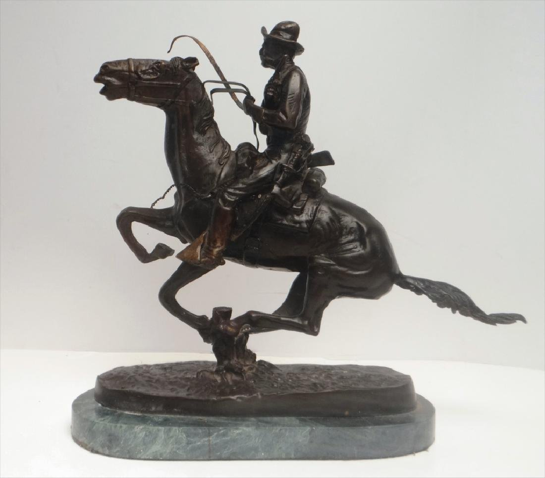 "BRONZE ""TROOPER"" SGND FREDERIC REMINGTON - 4"