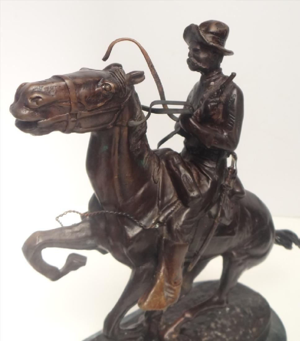 "BRONZE ""TROOPER"" SGND FREDERIC REMINGTON - 5"
