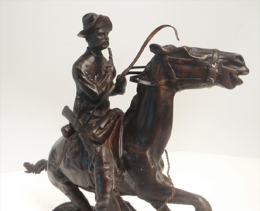 "BRONZE ""TROOPER"" SGND FREDERIC REMINGTON - 6"